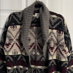 AMERICAN EAGLE Cardigan Cable Knit Collar